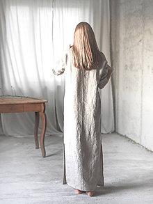 Pyžamy a župany - Dámska ľanová nočná košeľa - 8783025_