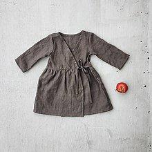 Detské oblečenie - Detské ľanové zavinovacie šaty - 8783431_