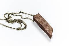 Náhrdelníky - Drevený náhrdelník - minimal - 8787386_