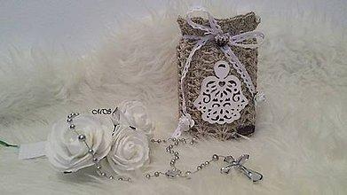 Svietidlá a sviečky - Svietnik - BIELY ANJEL - 8783473_