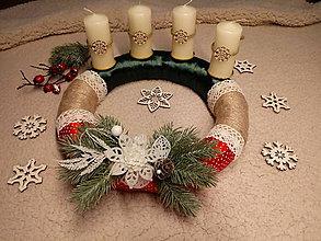 Dekorácie - Adventný veniec Vianoce - 8785105_