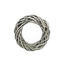 Polotovary - Prútený veniec šedý 25cm - 8787504_