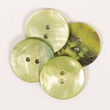 Galantéria - Perleťový gombík zelený - 8782990_