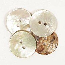Galantéria - Perleťový gombík biely - 8783738_