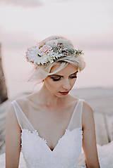 """Ozdoby do vlasov - Kvetinový venček """"nežná vôňa gerbery"""" - výpredaj z 38€ - 8784780_"""