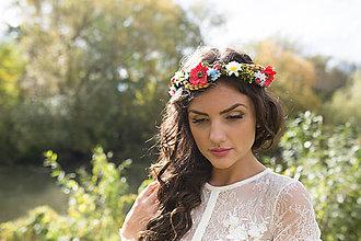 Ozdoby do vlasov - Folkový svadobný venček \