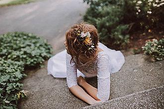 """Ozdoby do vlasov - Glamour hrebienok """"zlaté časy"""" - 8784940_"""
