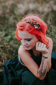 """Ozdoby do vlasov - Kvetinová čelenka """"ešte váham"""" - 8785432_"""