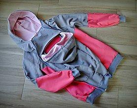 Mikiny - Mikina na nosenie dieťatka X. (S) - 8782407_