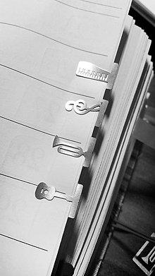 Papiernictvo - Mini kovové záložky - 4+1 Zdarma (Hudobné) - 8785308_