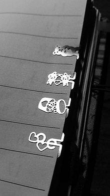 Papiernictvo - Mini kovové záložky - 4+1 Zdarma (Láska) - 8785518_