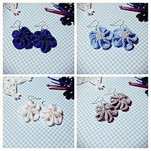 Náušnice - Kvetinové náušničky (Modrá) - 8787883_
