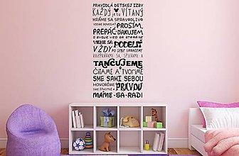 Dekorácie - Nálepky na stenu - Pravidlá detskej izby - 8785224_