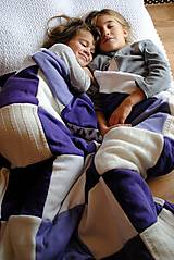 Fialková deka s levandulami