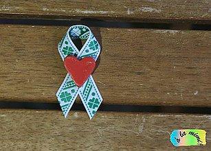 Pierka - Svadobné pierko Štvorlístkové s ručne modelovaným srdiečkom - 8788824_