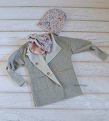 Detské oblečenie - oversize kabátik - 8793344_
