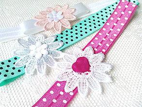 Ozdoby do vlasov - Baby girl elastic headbands - 8793571_
