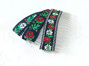 Ozdoby do vlasov - Folklore hair combs - 8793706_