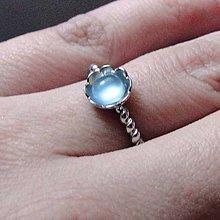 Prstene - Simple Aquamarine Ring / Prsteň s prírodným akvamarínom - 8791205_