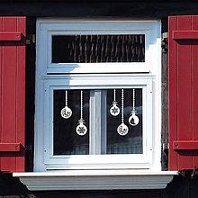 Dekorácie - Vianočné gule (nálepka na okno) - 8791862_