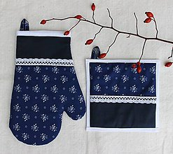 Úžitkový textil - set rukavica+chňapka Slovenka - 8794105_