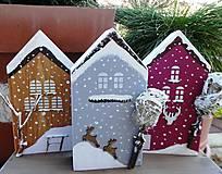 Dekorácie - Vianočné domčeky - 8790278_