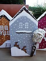 Dekorácie - Vianočné domčeky - 8790279_