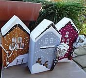 Dekorácie - Vianočné domčeky - 8790284_