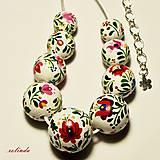 Náhrdelníky - Folklórní náhrdelník - matyó minta - 8794232_
