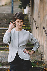 Kabáty - SERENA - sáčko vlněné - 8789426_