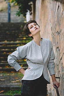 Kabáty - SERENA - sáčko vlněné - 8789422_
