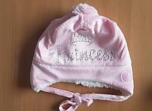 Detské čiapky - Zimná čiapka Princess - 8793856_