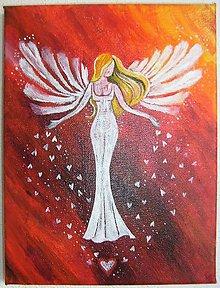 Obrazy - Obraz, Anjel lásky, 18 x 24 cm - 8790047_