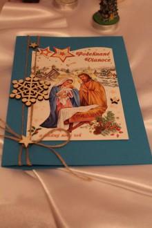 """Papiernictvo - Vianočná pohľadnica """"Ježiško a vločka"""" - 8792740_"""