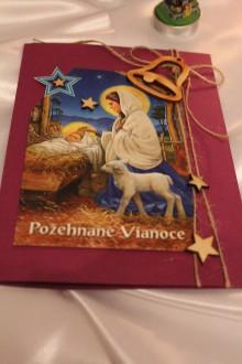 """Papiernictvo - Vianočná pohľadnica """"Požehnané Vianoce"""" - 8792785_"""