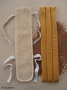 Úžitkový textil - Na bolesť CHRBTICE / PÁTEŘÁK v strede liečebná bandáž zo 100% ovčej vlny MERINO a TERMOFÓR - 8793771_