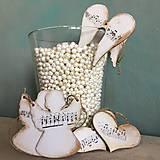 Dekorácie - vianočné vintage ozdoby biele - 8788734_