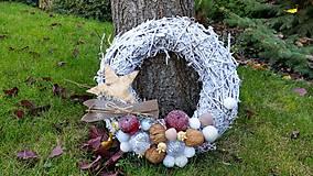 Dekorácie - Vianočný veniec na dvere - 8792923_