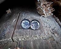 Náušnice - Krúžky 12 mm s kovovým efektom (fialkovo strieborné) - 8788703_