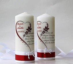 Svietidlá a sviečky - Dekoračná sviečka poďakovanie svadobným rodičom - 8791681_
