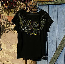 Tričká - Maľované tričko s lúčnymi kvetmi na želanie pre Anku - 8790121_
