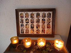 Rámiky - adventný kalendár bez sladkostí - 8789619_