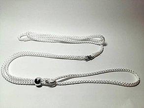 Pre zvieratká - Predvádzacie vodítko biele (priemer 7mm) - 8792695_