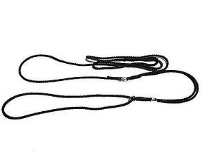 Pre zvieratká - Predvádzacie vodítko čierne (priemer 5mm) - 8792916_