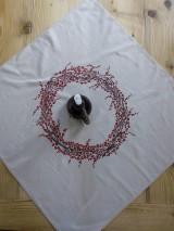 Úžitkový textil - Obrus - veniec Ilex - 8792529_