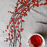 Úžitkový textil - Obrus - veniec Ilex - 8792536_