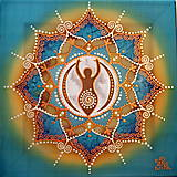 Obrazy - Mandala/ plodné lono ženy - 8791466_
