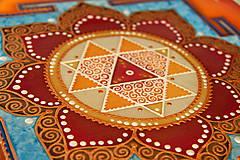 Obrazy - Durga Yantra / Mandala odvahy a víťazstva - 8791827_
