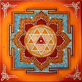 Obrazy - Durga Yantra / Mandala odvahy a víťazstva - 8791831_