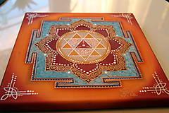 Obrazy - Durga Yantra / Mandala odvahy a víťazstva - 8791832_